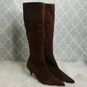 2for$100Salvatore Ferragamo suede heeled boots